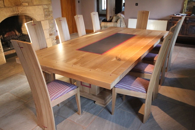 Oak dining table and chairs | Paul Case Bespoke Furniture
