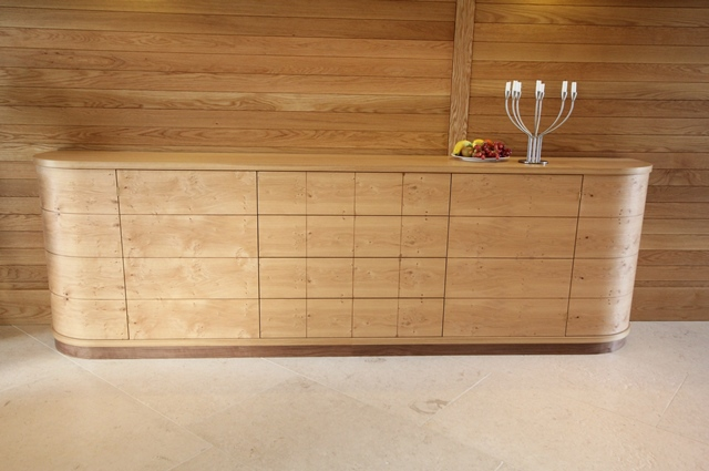 Family Sideboard In Oak, Pippy Oak And Walnut