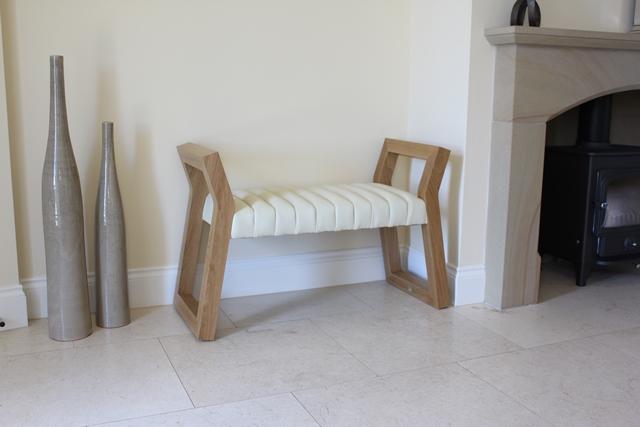 Small Cleopatra Bench in walnut - Bespoke Luxury Furniture ...