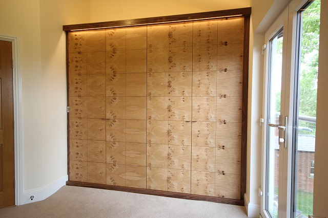 Fitted wardrobes in oak and walnut Quality bespoke storage